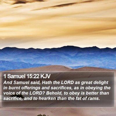 1 Samuel 15:22 KJV Bible Verse Image