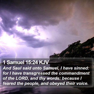 1 Samuel 15:24 KJV Bible Verse Image