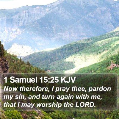 1 Samuel 15:25 KJV Bible Verse Image