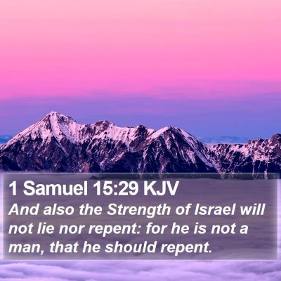 1 Samuel 15:29 KJV Bible Verse Image
