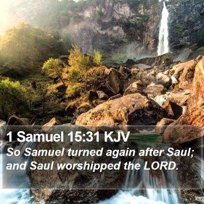 1 Samuel 15:31 KJV Bible Verse Image