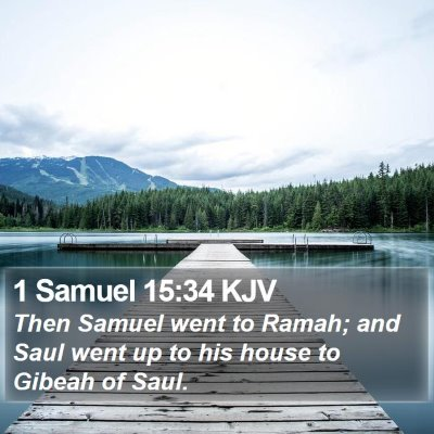 1 Samuel 15:34 KJV Bible Verse Image