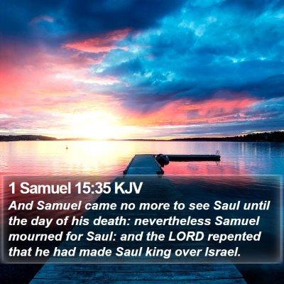 1 Samuel 15:35 KJV Bible Verse Image