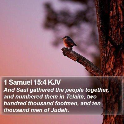 1 Samuel 15:4 KJV Bible Verse Image