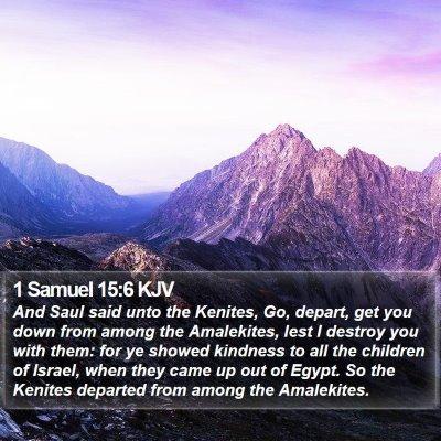 1 Samuel 15:6 KJV Bible Verse Image