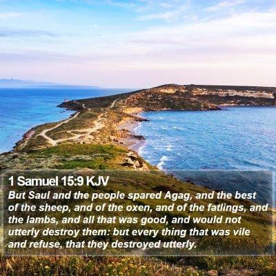 1 Samuel 15:9 KJV Bible Verse Image