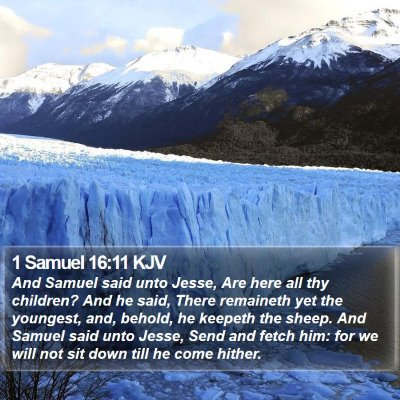 1 Samuel 16:11 KJV Bible Verse Image