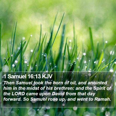 1 Samuel 16:13 KJV Bible Verse Image