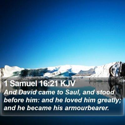 1 Samuel 16:21 KJV Bible Verse Image