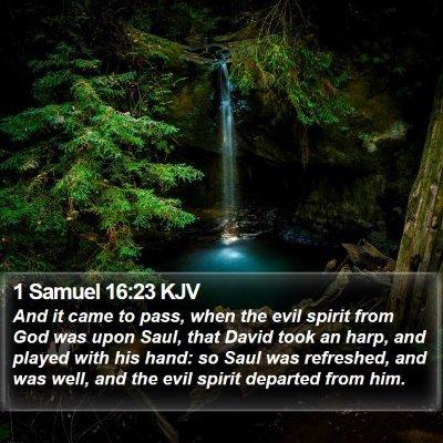 1 Samuel 16:23 KJV Bible Verse Image