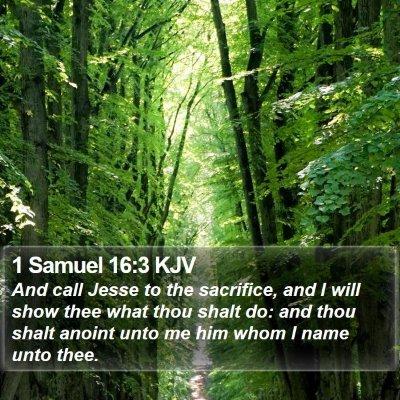 1 Samuel 16:3 KJV Bible Verse Image