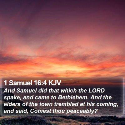 1 Samuel 16:4 KJV Bible Verse Image