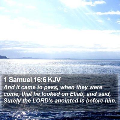 1 Samuel 16:6 KJV Bible Verse Image
