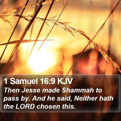 1 Samuel 16:9 KJV Bible Verse Image