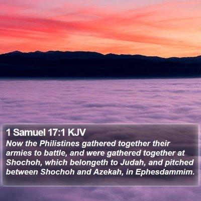 1 Samuel 17:1 KJV Bible Verse Image