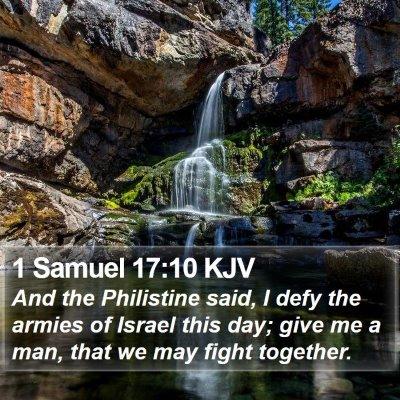 1 Samuel 17:10 KJV Bible Verse Image