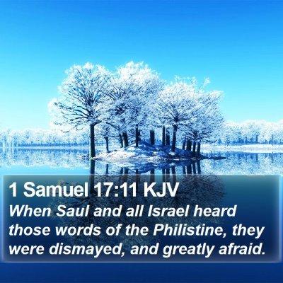 1 Samuel 17:11 KJV Bible Verse Image