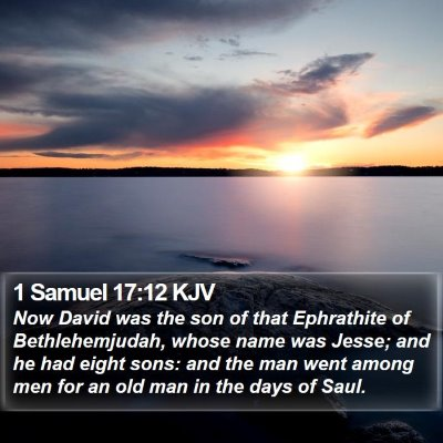 1 Samuel 17:12 KJV Bible Verse Image