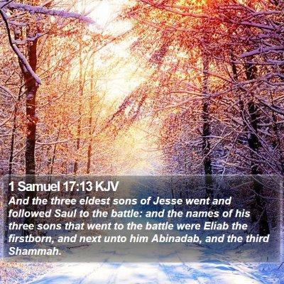 1 Samuel 17:13 KJV Bible Verse Image