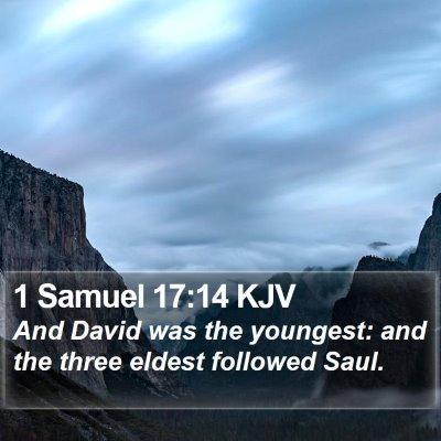 1 Samuel 17:14 KJV Bible Verse Image