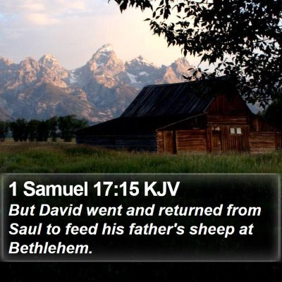 1 Samuel 17:15 KJV Bible Verse Image