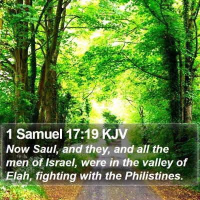 1 Samuel 17:19 KJV Bible Verse Image