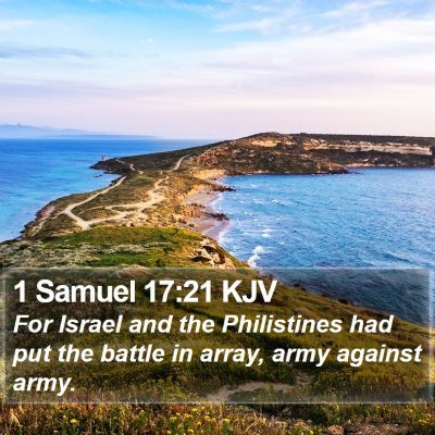 1 Samuel 17:21 KJV Bible Verse Image