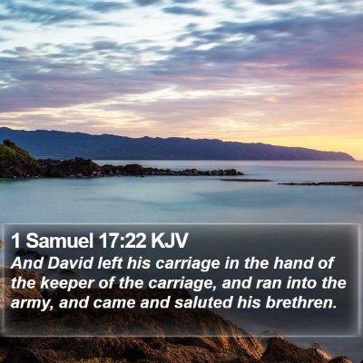 1 Samuel 17:22 KJV Bible Verse Image