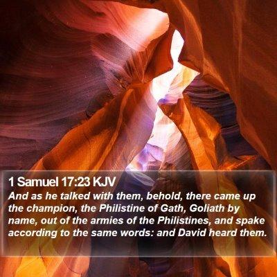 1 Samuel 17:23 KJV Bible Verse Image
