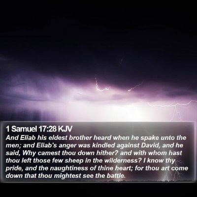 1 Samuel 17:28 KJV Bible Verse Image