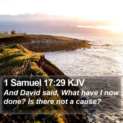 1 Samuel 17:29 KJV Bible Verse Image