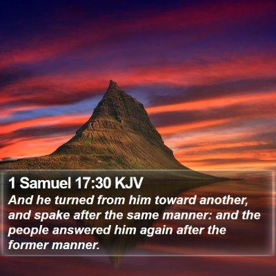 1 Samuel 17:30 KJV Bible Verse Image