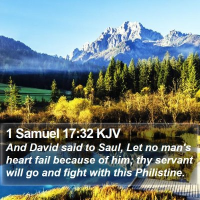 1 Samuel 17:32 KJV Bible Verse Image