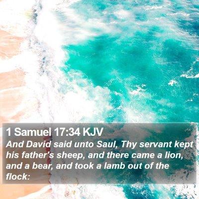 1 Samuel 17:34 KJV Bible Verse Image