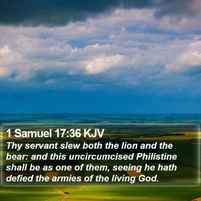 1 Samuel 17:36 KJV Bible Verse Image