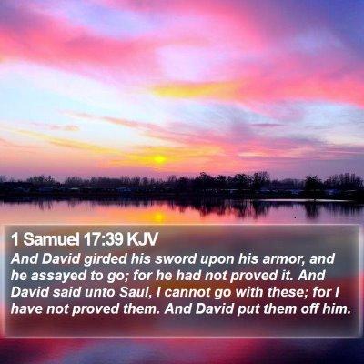 1 Samuel 17:39 KJV Bible Verse Image