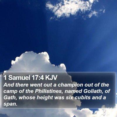 1 Samuel 17:4 KJV Bible Verse Image
