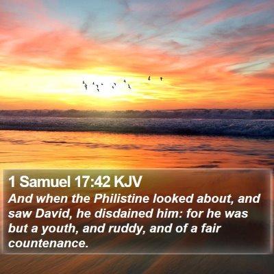 1 Samuel 17:42 KJV Bible Verse Image