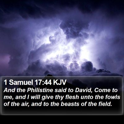 1 Samuel 17:44 KJV Bible Verse Image