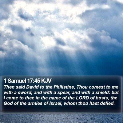 1 Samuel 17:45 KJV Bible Verse Image