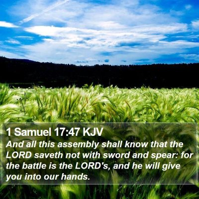 1 Samuel 17:47 KJV Bible Verse Image