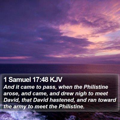 1 Samuel 17:48 KJV Bible Verse Image
