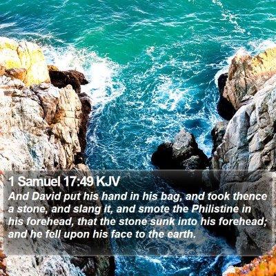1 Samuel 17:49 KJV Bible Verse Image