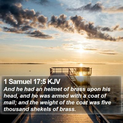 1 Samuel 17:5 KJV Bible Verse Image
