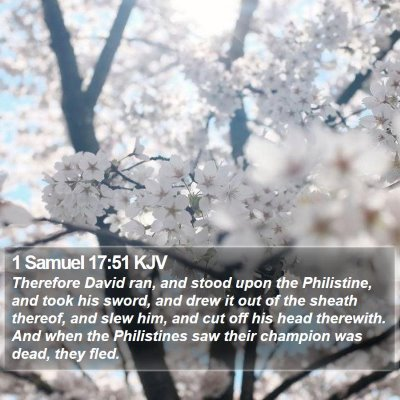 1 Samuel 17:51 KJV Bible Verse Image