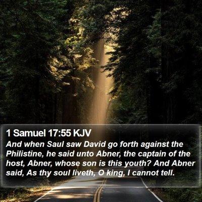 1 Samuel 17:55 KJV Bible Verse Image