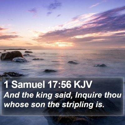 1 Samuel 17:56 KJV Bible Verse Image