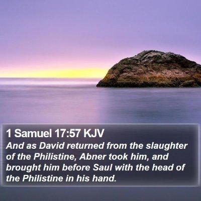 1 Samuel 17:57 KJV Bible Verse Image