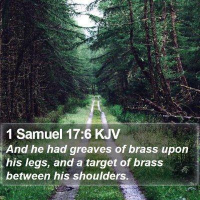 1 Samuel 17:6 KJV Bible Verse Image