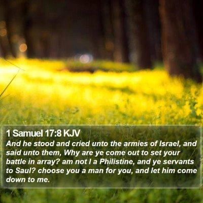 1 Samuel 17:8 KJV Bible Verse Image